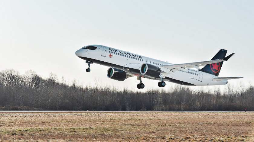 Air Canada's First A220-300 Takes to the Skies