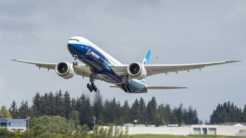 Second Boeing 777X Test Aircraft Flies over Washington