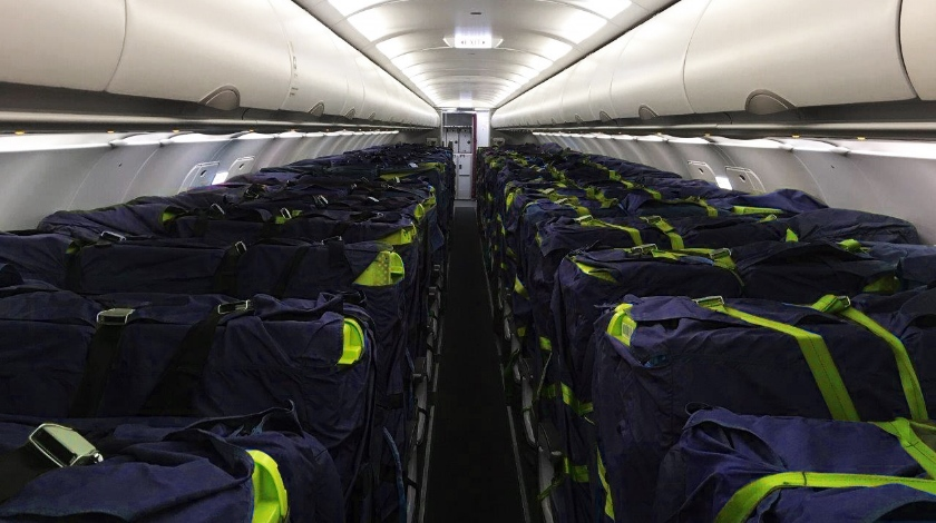 EASA Certifies Cargo Seat Bags for A320 Family Aircraft Cabins