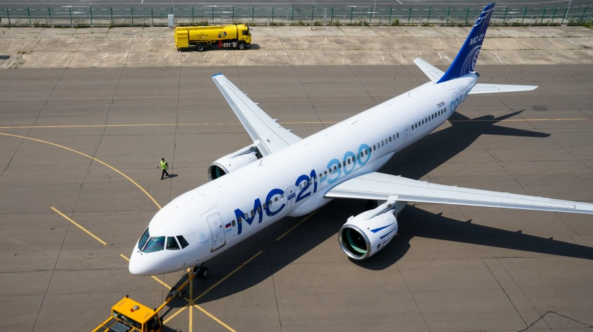 Painted MC-21-300 to Continue Certification Test Program