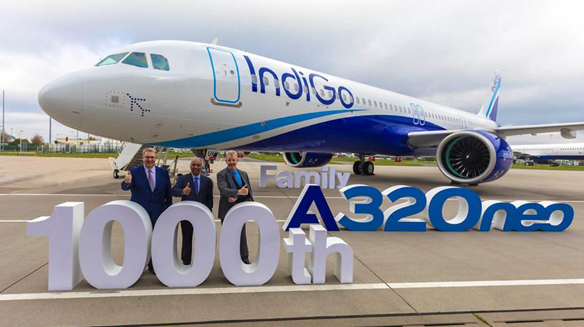 IndiGo Takes Delivery of 1,000th Airbus A320neo Family Aircraft