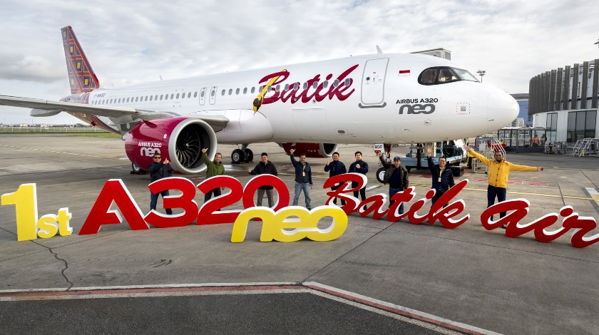 First Airbus A320neo Arrives at Batik Air