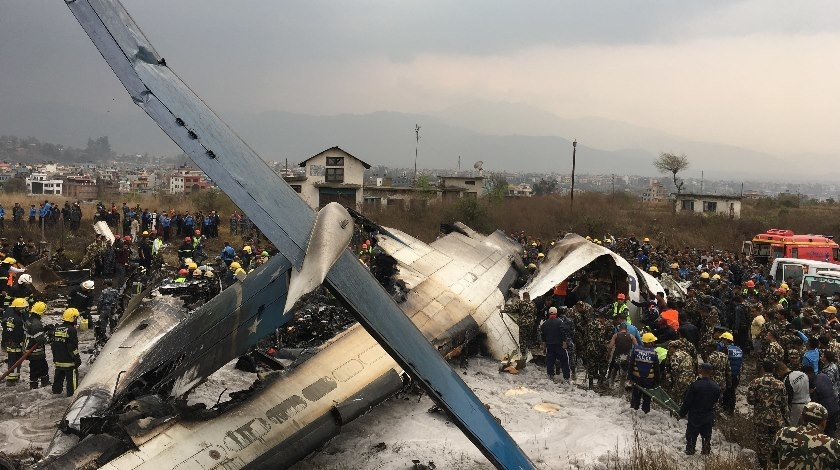 Pegasus B738 Skids off Runway Stopping Just Feet From the SeaAt Least 38 Dead after Plane Crashes at Kathmandu Airport