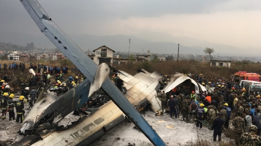 At Least 38 Dead after Plane Crashes at Kathmandu Airport
