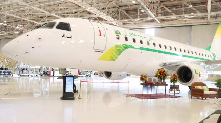 Embraer Delivers First E175 to Mauritania Airlines