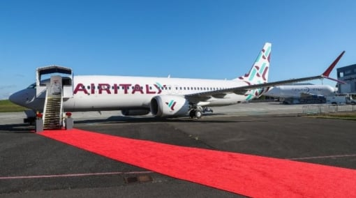 Air Italy Receives Its First Boeing 737 MAX In Striking New Livery