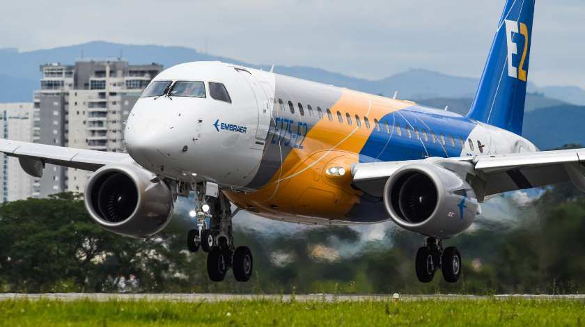 First E175-E2 Jet Completes its Maiden Flight
