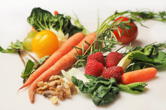 carrots, other vegetables and fruit