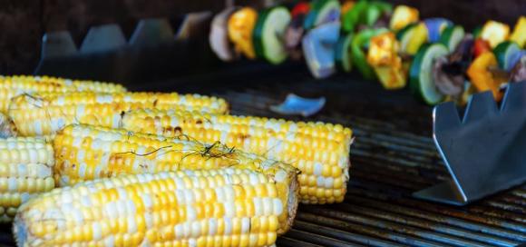 Corn on a BBQ