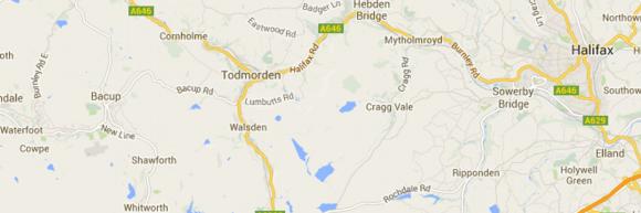Map of Calderdale