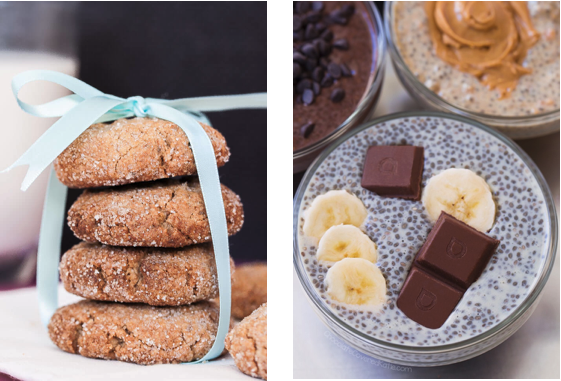 chia cookies and pudding