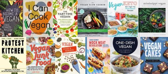 Covers of new vegan books