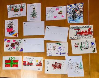 AAME - Cartes des enfants pour Noël 2019