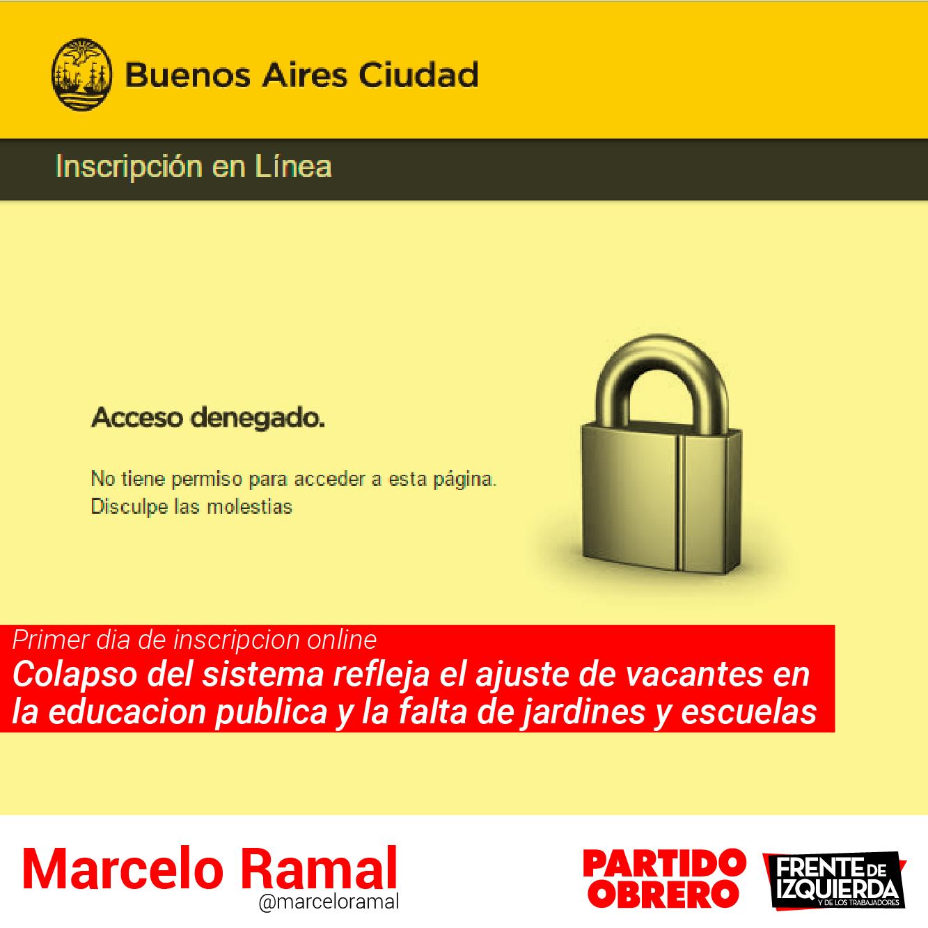 Protagonistas marcelo ramal inscripcion on line acceso for Inscripcion jardin maternal 2016 gobierno de la ciudad