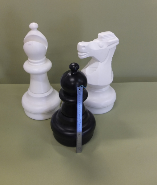 Giant plastic chess pieces