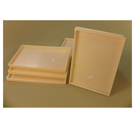 Plastic Trays Yellow Containers