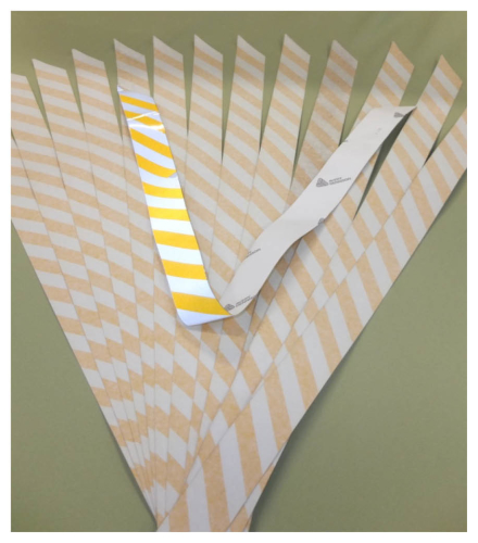 Reflective Strips Stickers Safety Yellow White