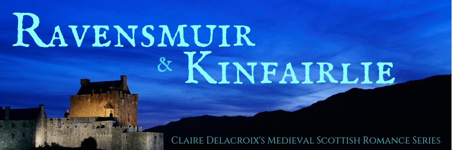 Sign up for Ravensmuir & Kinfairlie, Claire Delacroix's guided tour of the medieval Scottish romances set in her fictional world.