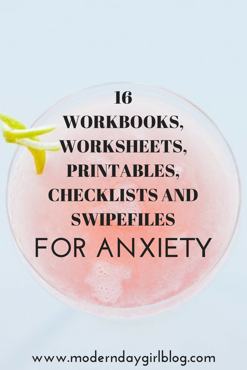 Workbooks best anxiety workbook : Anxiety package containing worksheets, workbooks, checklists and ...