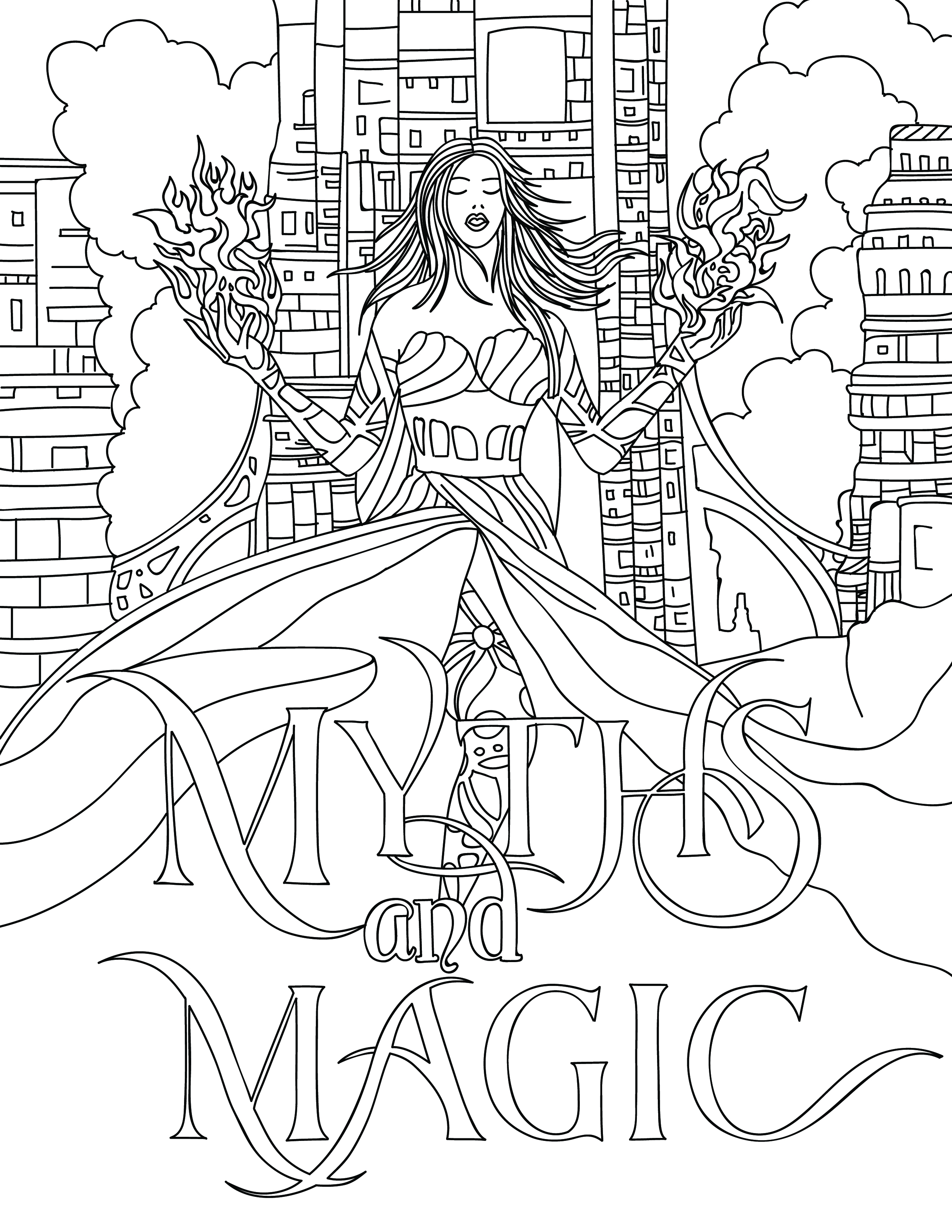 Myths & Magic Coloring Book
