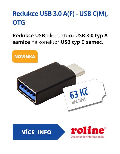 Redukce USB 3.0 A(F) - USB C(M), OTG