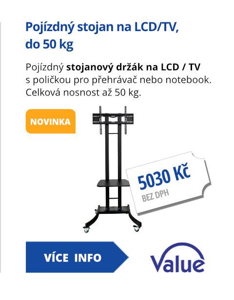 Pojízdný stojan na LCD/TV, do 50kg