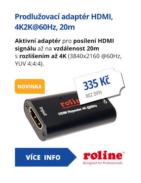Prodlužovací adaptér HDMI, 4K2K@60Hz, 20m