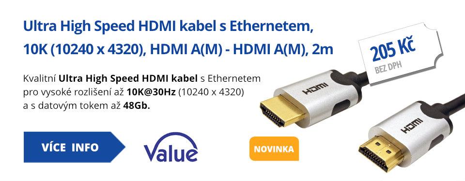 Ultra High Speed HDMI kabel s Ethernetem, 10K (10240 x 4320), HDMI A(M) - HDMI A(M), 2m