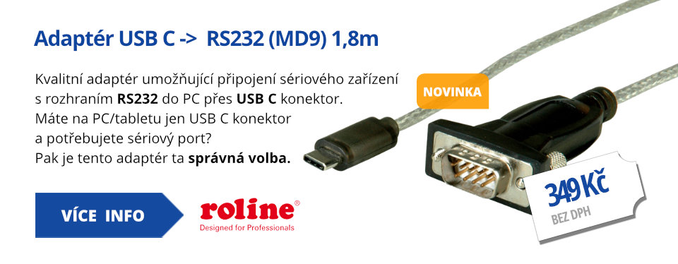 Adaptér USB C ->  RS232 (MD9) 1,8m