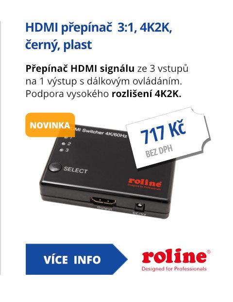 HDMI přepínač  3:1, 4K2K