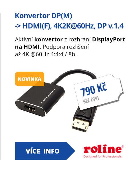 Konvertor DP(M) -> HDMI(F), 4K2K@60Hz, DP v.1.4