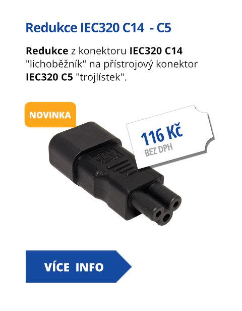 Redukce IEC320 C14  - C5