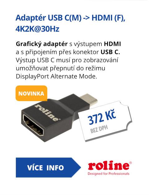Adaptér USB C(M) -> HDMI (F), 4K2K@30Hz