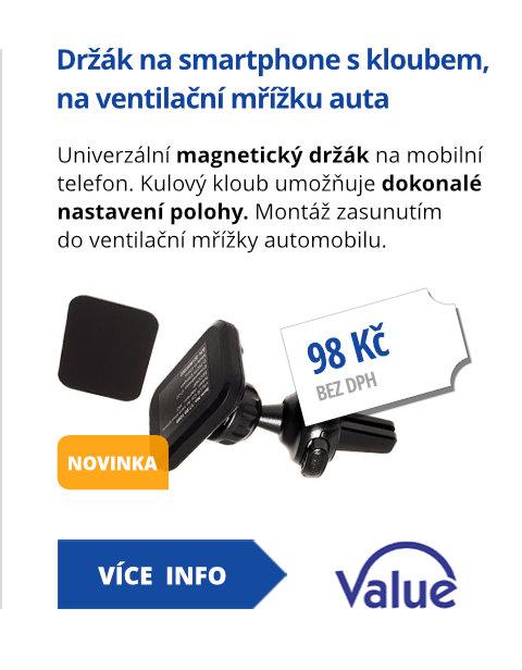 Držák na smartphone, magnetický, s kloubem, na ventilační mřížku auta