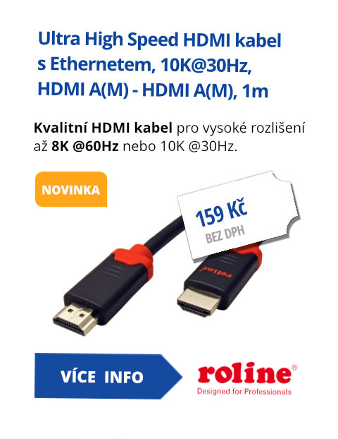 Ultra High Speed HDMI kabel s Ethernetem, 10K@30Hz, HDMI A(M) - HDMI A(M), 1m