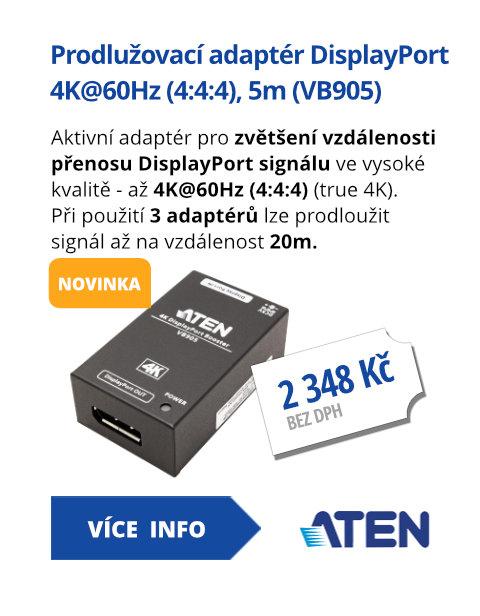 Prodlužovací adaptér DisplayPort  4K@60Hz (4:4:4), 5m (VB905)