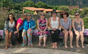 Meenu and the mastermind group in Tepoztlan