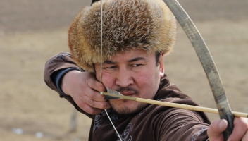 Enable images to see a photo of a Kyrgyz archer