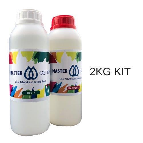 Clear Resin Epoxy Art Grade 400g kit UV Stable Non Hazardous MasterCast