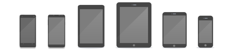 Illustration of Devices with Vertical screens