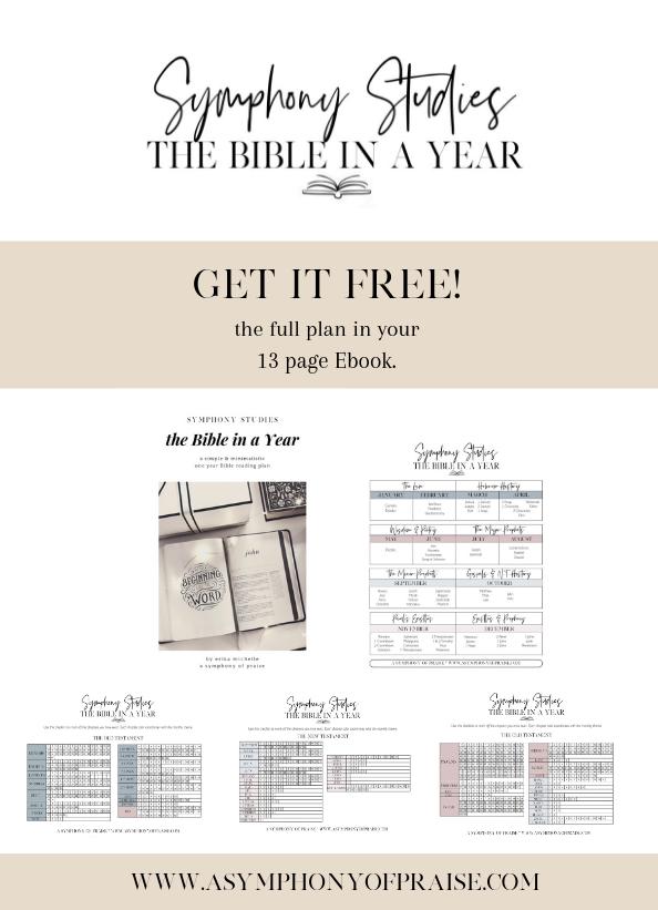 The Symphony Studies ONE YEAR Bible Reading Plan — Symphony