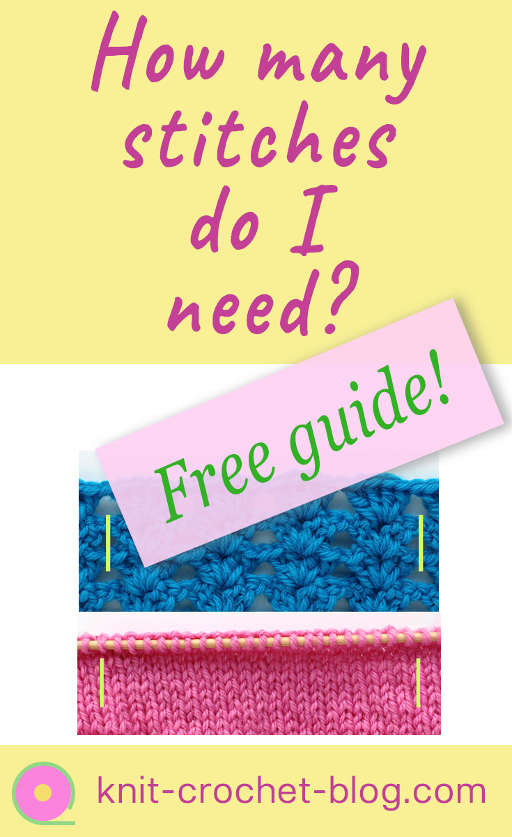 Guide for learning to calculate stitches for knitting and crochet