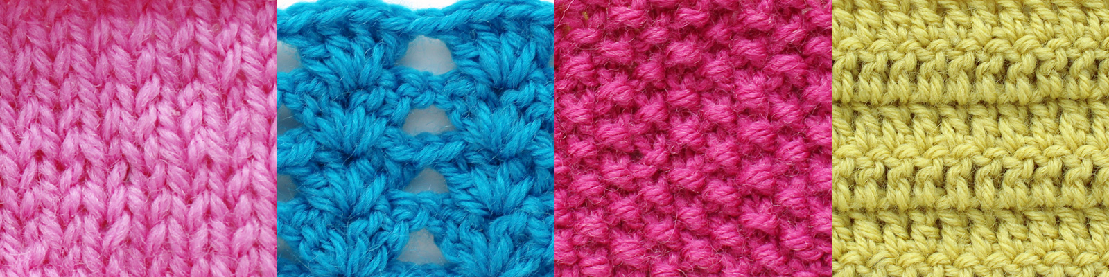 Samples of knitting and crochet - download free guide for calculating the number of stitches
