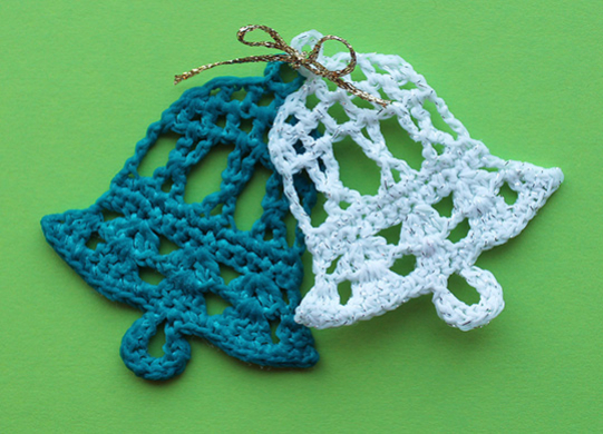 Download free pattern for crochet bell for Knitted christmas bells