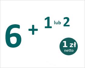 6 + 1 lub 2