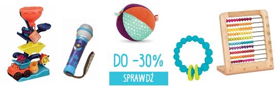 DO -30% NA ZABAWKI B TOYS