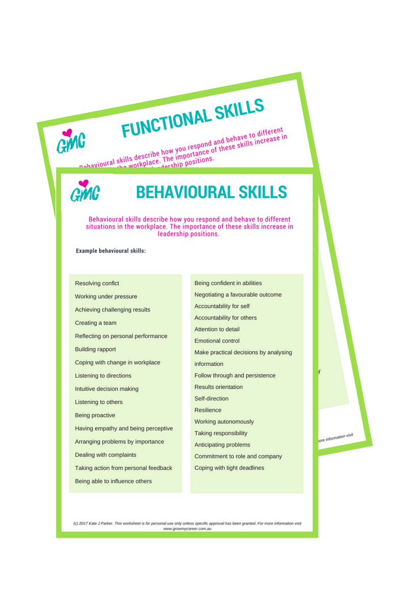 behavioural  functional  and technical skills