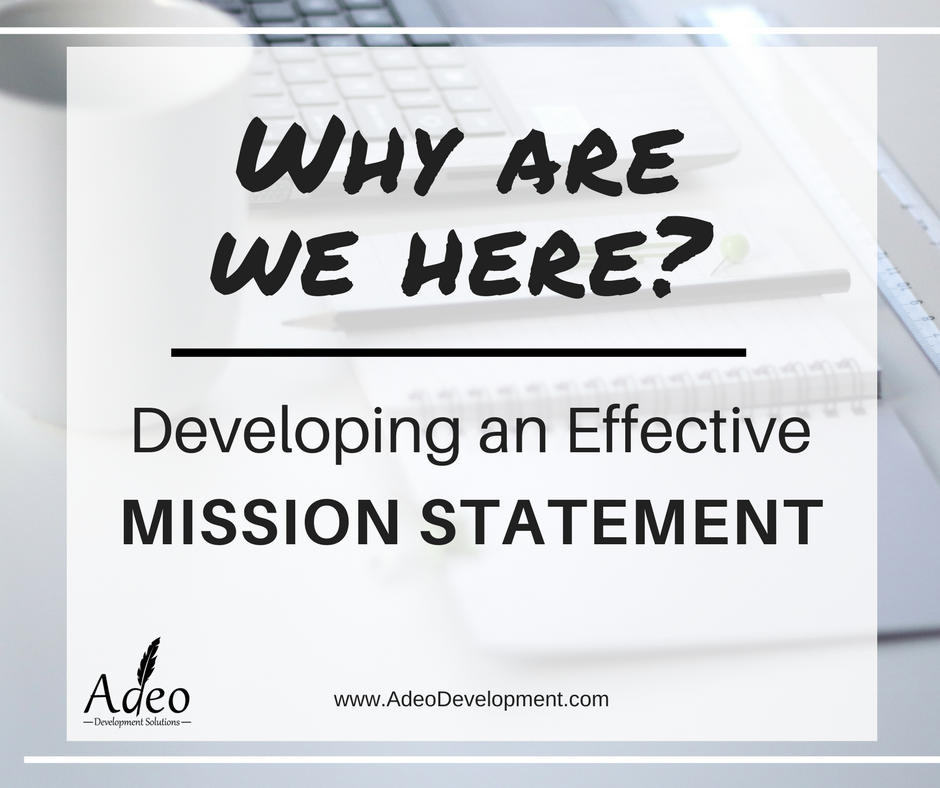 Non-profit mission statements - Adeo Development Solutions LLC