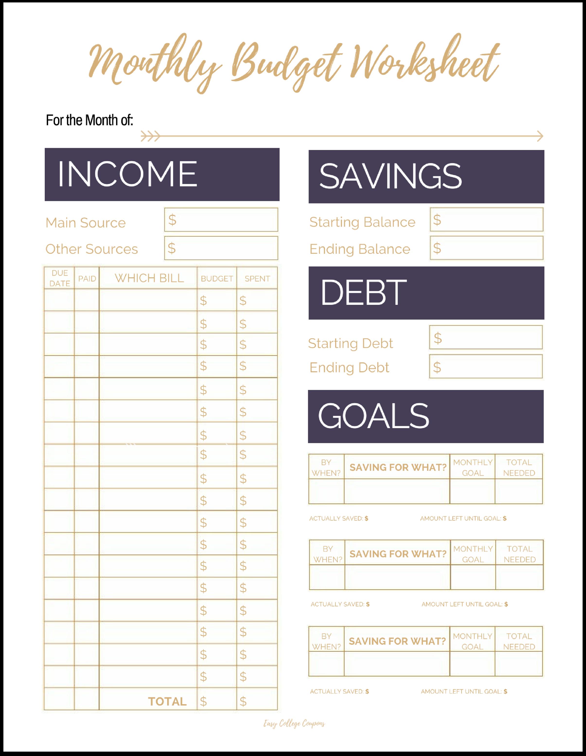 bill budgeting worksheet koni polycode co