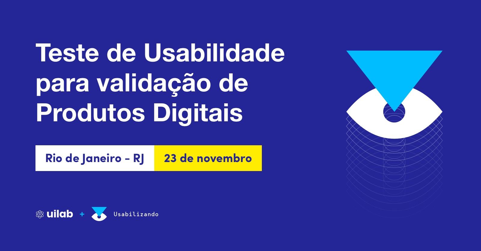 Curso de Teste de Usabilidade no Rio de Janeiro